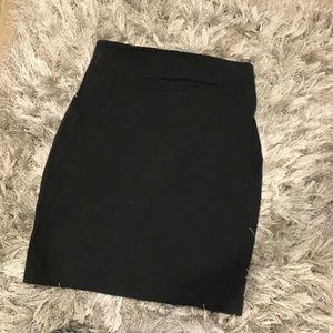 Straight black skirt